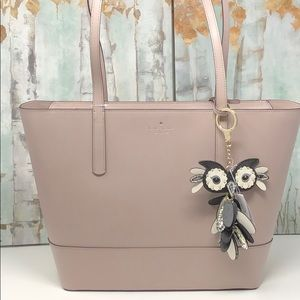 NWT Kate spade large tote with key chain